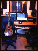 Here is my Les Paul at a recent recording session.